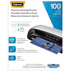 Fellowes Laminating Pouches Letter 3 mil