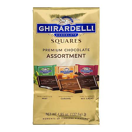 Ghirardelli® Chocolate Squares, Premium Assortment, 4.85 Oz, Pack Of 3 Bags