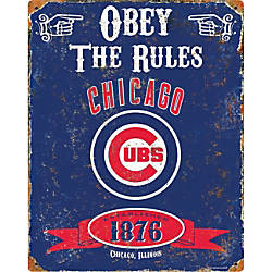 Party Animal Chicago Cubs Embossed Metal