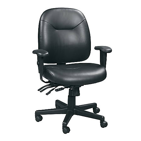 Raynor® 4 x 4 Leather Task Chair, Black