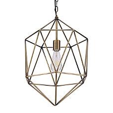 Southern Enterprises Caya Geometric Pendant Lamp