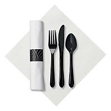 CaterWrap Pre Rolled Cutlery Mystic Linen