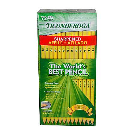 Ticonderoga® #2 Pencils, 0.7 mm, Yellow, Pack Of 72 Pencils