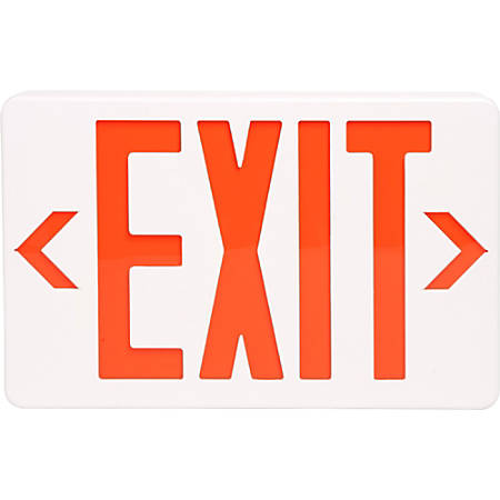 "Tatco LED Exit Sign with Battery Back-Up, 8 3/4"" x 12 1/4"" x 2 1/2"", White"