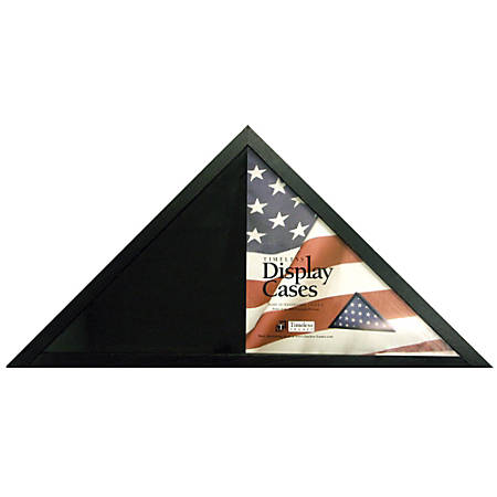 Timeless Frames Flag Display Case 9 34 H x 9 34 W x 13 12 D Black by ...