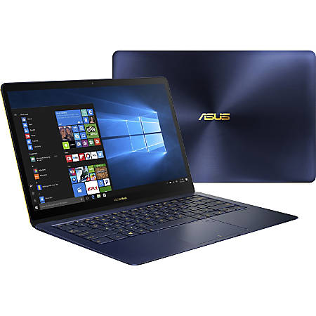 "Asus ZenBook 3 Deluxe UX490UA-XH74-BL 14"" Notebook - 1920 x 1080 - Core i7 i7-8550U - 16 GB RAM - 512 GB SSD - Royal Blue, Golden - Windows 10 Pro 64-bit - Intel UHD Graphics 620 - Tru2Life - Bluetooth - 9 Hour Battery Run Time"
