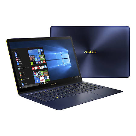 "Asus ZenBook 3 Deluxe UX490UA-XH74-BL 14"" LCD Notebook - Intel Core i7 (8th Gen) i7-8550U Quad-core (4 Core) 1.80 GHz - 16 GB LPDDR3 - 512 GB SSD - Windows 10 Pro 64-bit - 1920 x 1080 - Tru2Life - Royal Blue, Golden"