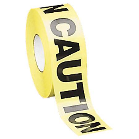 "Tatco ""Caution"" Barricade Tape, 3"" x 1000', Yellow"