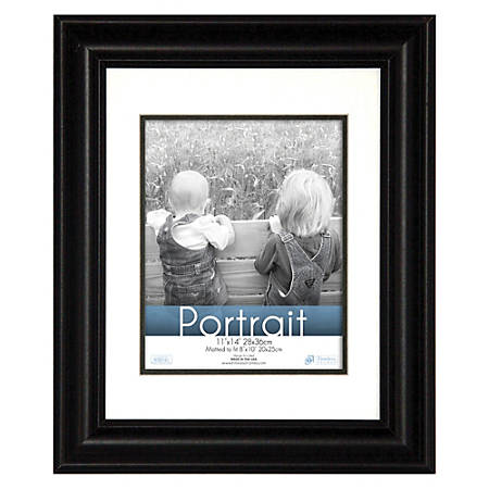 Timeless Frames Lauren Portrait Frame 11 x 14 8 x 10 Mat Black by ...