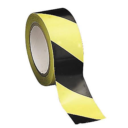 "Tatco Aisle Marking Hazard Tape, 2"" x 108', Yellow/Black"