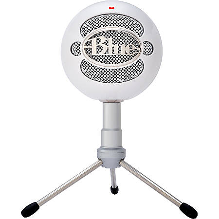 Blue Microphones Snowball iCE USB Microphone - White - Plug-and-Play USB microphone - Custom condenser capsule - 4.1kHz