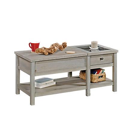 Sauder Cottage Road Lift Top Coffee Table Mystic Oak Item 7959181