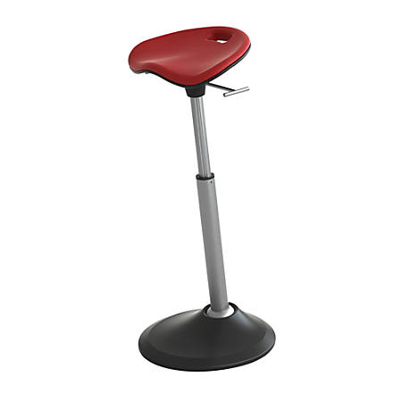 Safco® Active Mobis Seat, Chili Pepper Red/Black