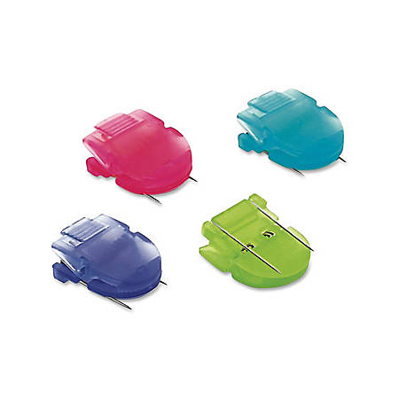 Advantus Panel Wall Clips, Assorted Colors, Box Of 4