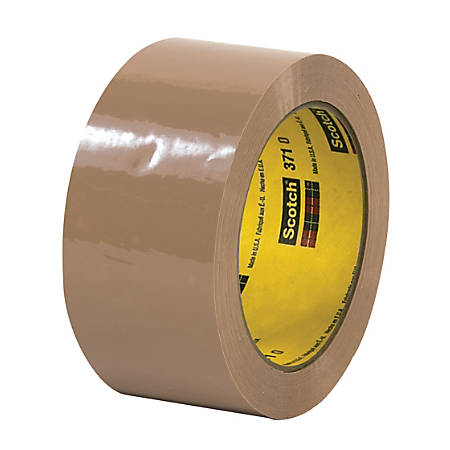 "3M® 371 Carton Sealing Tape, 2"" x 55 Yd., Tan, Case Of 36"
