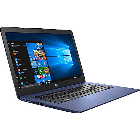 "HP Stream 14-ds0000 14-ds0130nr 14"" Notebook - 1920 x 1080 - A-Series A4-9120e - 4 GB RAM - 64 GB Flash Memory - Royal Blue, Frosted Blue - Windows 10 Home in S mode - AMD Radeon R3 Graphics - In-plane Switching (IPS) Technology, BrightView - Bluetooth"