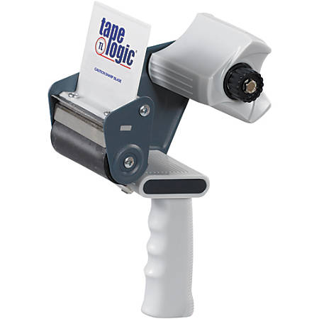 "Tape Logic® Deluxe Carton-Sealing Tape Dispenser, 3"" Core, 3"", Gray"