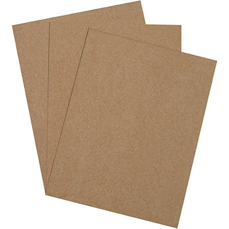 "Office Depot® Brand Chipboard Pads, 8"" x 10"", 100% Recycled, Kraft, Case Of 1,050"