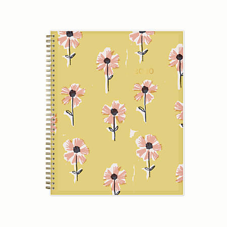 "Blue Sky™ Egg Press Create Your Own Weekly/Monthly Planner, 8-1/2"" x 11"", Pink Wallflowers, January 2020 to December 2020"
