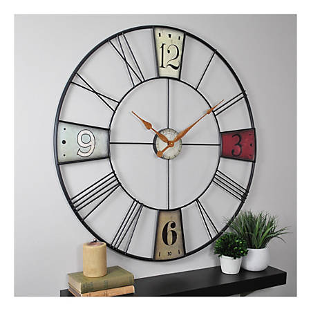 FirsTime & Co.® Vibrant Plaques Wall Clock, Multicolor