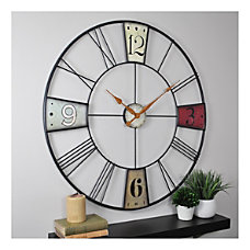 FirsTime Co Vibrant Plaques Wall Clock