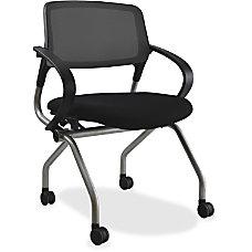 Lorell MeshFabric Nesting Chair Black