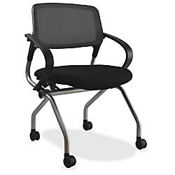 Lorell MeshFabric Nesting Chair Black