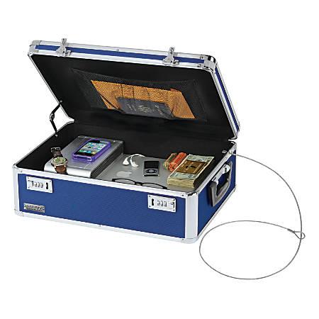"""Vaultz® Locking Storage Chest, 5 5/8""""H x 18""""W x 13""""D, Blue"""