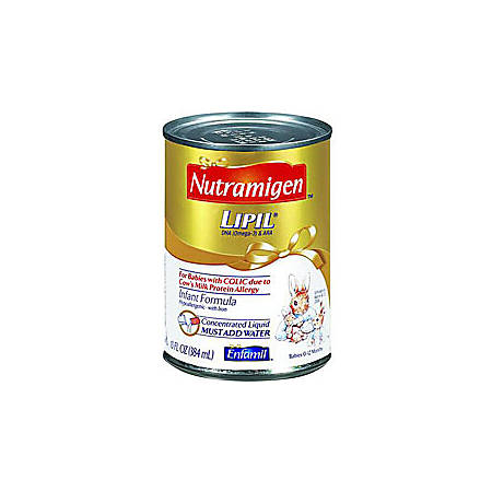 Nutramigen® LIPIL® Concentrated Liquid Infant Formula, 13 Fl. Oz. Can, Case Of 12
