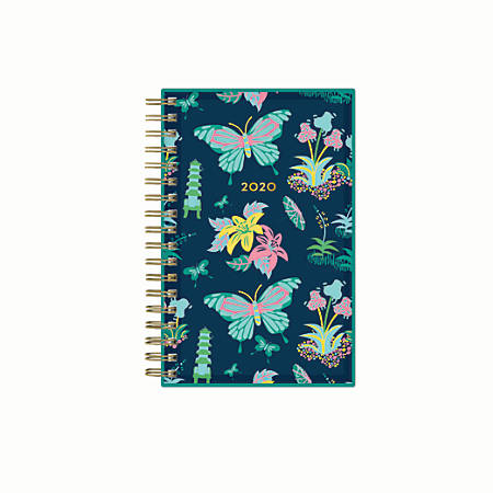 """Blue Sky™ Dabney Lee Weekly/Monthly Planner, 3-5/8"""" x 6-1/8"""", Butterfly Garden, January 2020 to December 2020"""