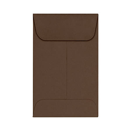 "LUX Coin Envelopes, #1, 2 1/4"" x 3 1/2"", Chocolate, Pack Of 250"