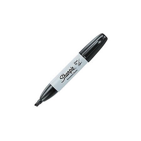 Sharpie® Permanent Marker, Chisel Tip, Black Ink
