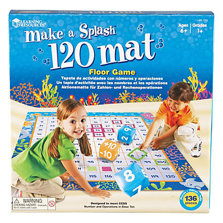 "Learning Resources® Make A Splash™ 120 Mat, 48"" x 56"", Grades 1-9"