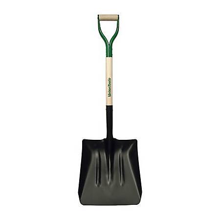 "UnionTools Square Steel Coal Shovel, 13-1/2"" Width Blade"