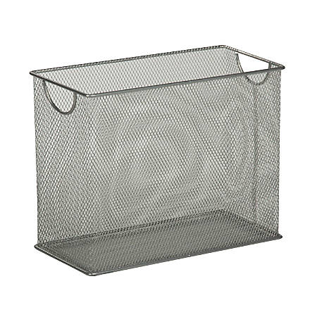 "Honey-Can-Do Tabletop Hanging File Organizer, 9 7/8""H x 12 1/2""W x 5 1/2""D, Silver"