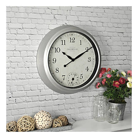 FirsTime & Co. Rustic Porch Outdoor Wall Clock