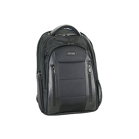 """Fujitsu Heritage Carrying Case (Backpack) for 15.6"""" Notebook - Dobby Polyester, Polyvinyl Chloride (PVC) - Checkpoint Friendly - Shoulder Strap, Handle, Luggage Strap - 17.5"""" Height x 13"""" Width x 8"""" Depth"""
