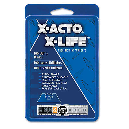 X-ACTO SurGrip Utility Knife Blades, Pack Of 100