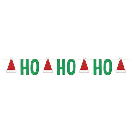 Amscan Christmas Ho Ho Ho Felt Banners, 5-1/2', Multicolor, Set Of 2 Banners