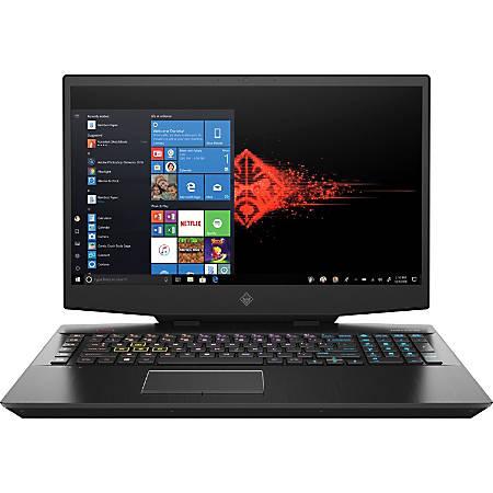 "HP OMEN 17.3"" Gaming Notebook, Core i7 i7-9750H, 16GB Memory, 256GB SSD, Shadow Black, Windows® 10 Home"