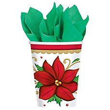 Amscan Christmas Paper Cups 9 Oz