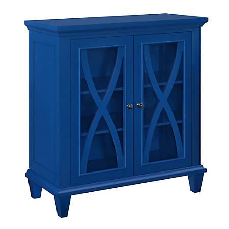 Ameriwood™ Home Ellington Double-Door Accent Cabinet, 3 Shelves, Blue
