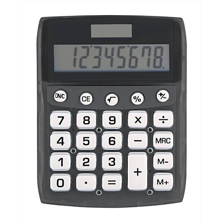 Ativa® 8-Digit Desktop Calculator, DD-611-BLACK