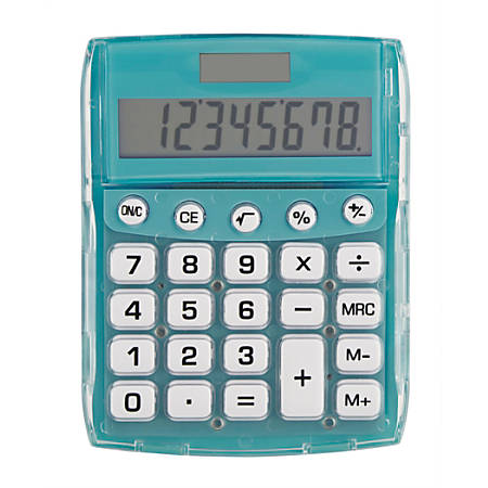 Ativa® 8-Digit Desktop Calculator, DD-611-TEAL