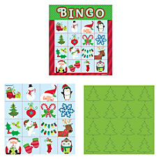 Amscan Christmas Bingo Multicolor Pack Of