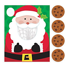Amscan Christmas Santa Cookie Toss Games