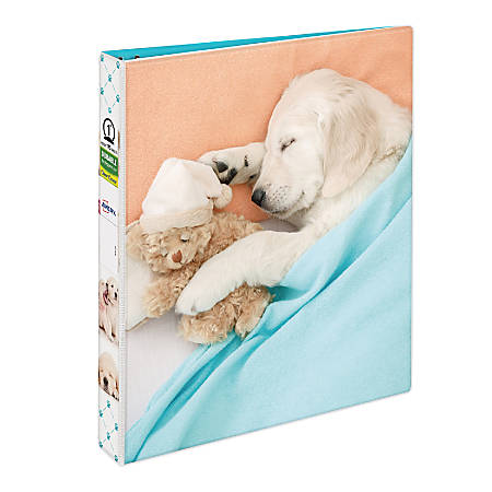 "Avery® Fashion Binder, 1"" Rings, Lab Pup"