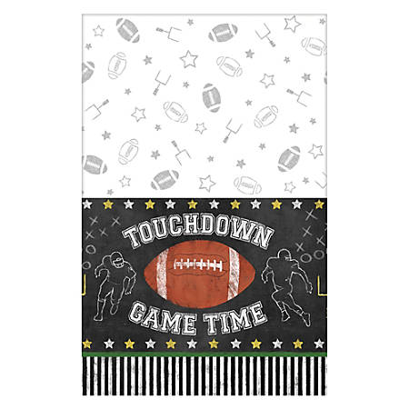 """Amscan Football Game Time Plastic Table Covers, 54"""" x 96"""", Pack Of 3"""