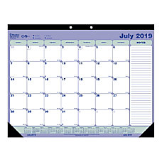 Blueline 13 Month Academic Monthly Desk