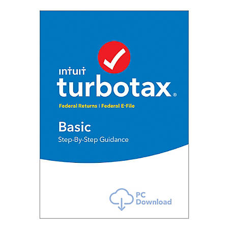 TurboTax® Basic Fed + E-File 2018, Windows Download